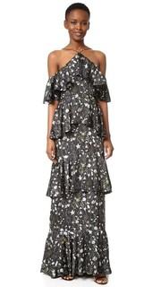 Вечернее платье с цветочным рисунком Prairie Cynthia Rowley