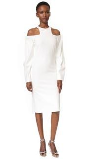 Платье с перфорированной складкой на плече Dion Lee