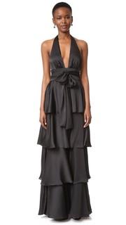 Вечернее платье с V-образным вырезом с оборками Jill Jill Stuart