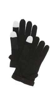 Контрастные текстурированные перчатки с бантом Kate Spade New York