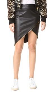 Асимметричная юбка с молниями Michelle Mason