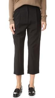 Укороченные брюки со складками Steven Alan