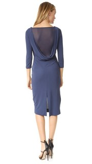 Платье с открытой спиной и драпировкой ST Olcay Gulsen