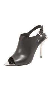 Кожаные туфли на каблуках Versace