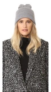Однотонная вязаная шапка с бантиком Kate Spade New York
