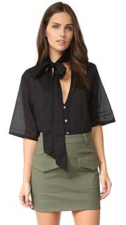 Рубашка на пуговицах с шарфом Matin