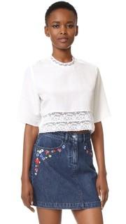 Укороченная блуза из французского кружева Matin
