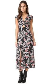 Миди-платье с перекрученным элементом спереди Minkpink