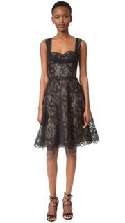 Кружевное платье Monique Lhuillier