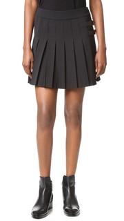 Плиссированная мини-юбка Vera Wang Collection