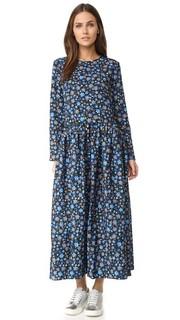 Миди-платье с длинными рукавами и складками по бокам Edit