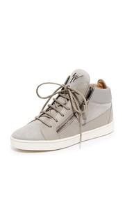 Замшевые кроссовки Giuseppe Zanotti