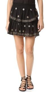 Мини-юбка с оборками Loveshackfancy