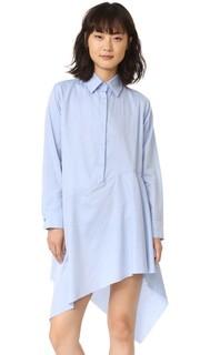 Платье-рубашка с асимметричным необработанным нижним краем Marques Almeida