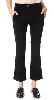 Укороченные брюки W3 с накладным расклешенным элементом 3x1