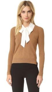 Кашемировый свитер Arrow с завязками на вырезе Veronica Beard