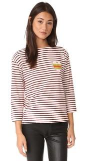 Полосатая футболка Sailor с изображением сердечка Chinti and Parker