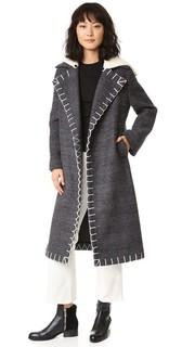 Длинное двубортное пальто Edun