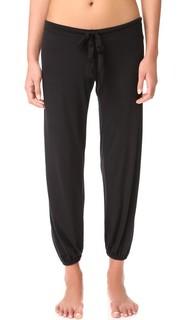 Укороченные пижамные брюки из окрашенных волокон Eberjey