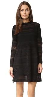 Вязаное платье с оборками на вырезе M Missoni