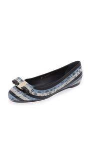 Обувь на плоской подошве в полоску Varina Salvatore Ferragamo