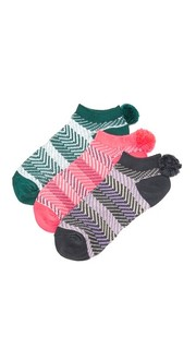 Три пары носков с помпонами Free People