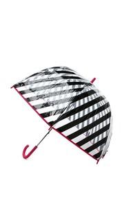 Зонт в черную полоску Kate Spade New York