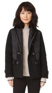 Двубортная шерстяная пуховая куртка Add Down