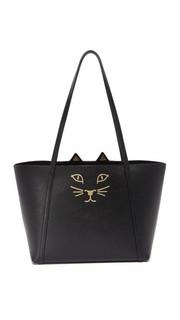 Миниатюрная объемная сумка с короткими ручками Feline Charlotte Olympia