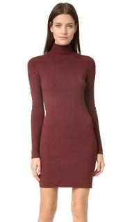 Платье с воротником под горло из рубчатой ткани 525 America