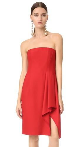 Платье без бретелек с бюстье