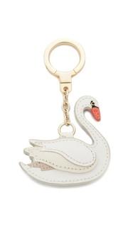 Брелок Swan из сафьяновой кожи Kate Spade New York