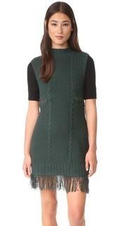Платье-свитер с воротником под горло Moon River