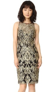 Платье-футляр с вышивкой Marchesa Notte