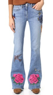 Расклешенные джинсы с вышивкой W25 3x1