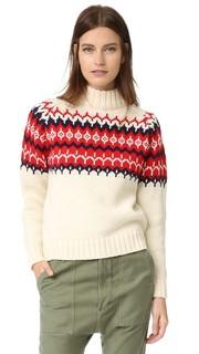Трикотажный свитер с жаккардовым узором &Daughter