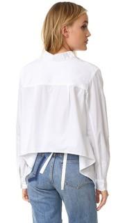 Рубашка с отделкой завязками Clu