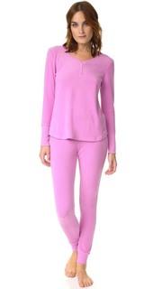 Длинная пижама Apres Ski из текстурированного материала с вафельной текстурой Emerson Road