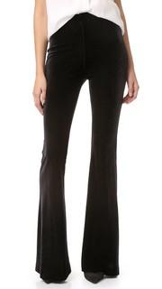 Расклешенные бархатные брюки Nicholas