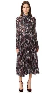 Плиссированное платье с цветочным рисунком Nicholas