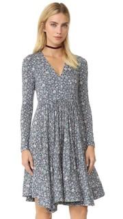 Платье с длинными рукавами Lavish Grid Rebecca Taylor