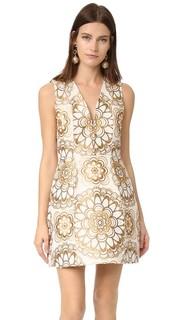 Платье-фонарик Pacey с V-образным вырезом Alice + Olivia