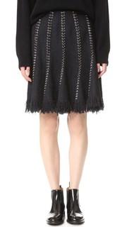 Расклешенная юбка с кольцами в швах Alexander Wang