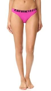 Бесшовные трусики-танга с логотипом Calvin Klein Underwear