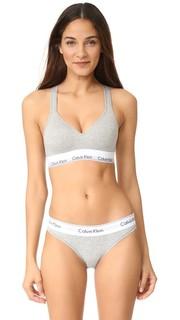 Современный бюстгальтер без косточек из хлопка с мягкой подкладкой Calvin Klein Underwear