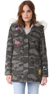 Пальто-карго с серым камуфляжным принтом Jocelyn