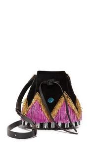 Миниатюрная сумка Daliah Disco с бахромой les Petits Joueurs