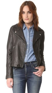Байкерская куртка из стираной кожи Madewell