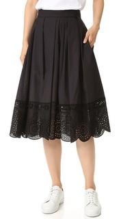 Широкая юбка с кружевной отделкой Marc Jacobs