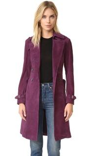 Замшевое пальто Amis Rebecca Minkoff